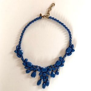 J Crew Blue Enameled Statement Necklace